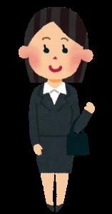 転職面接服装女性スーツ